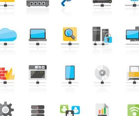 Network Icons graphic vector
