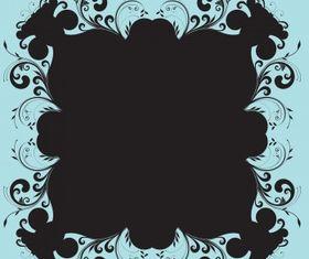 Floral elements vectors material