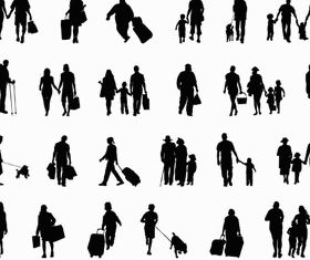 Silhouettes Family 2 vector material
