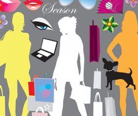 Shopping elements vectors graphics
