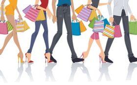 stylish shopping elements Illustration vector