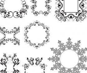 Floral elements 13 vector