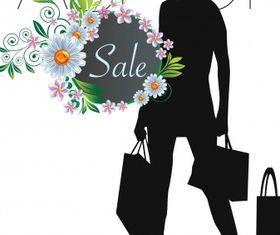 Fashion sale vectors material