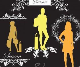 Classy fashion vector set