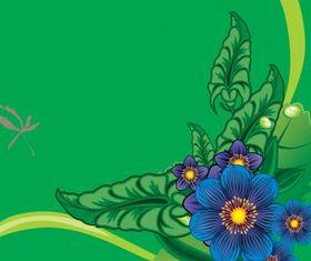 Floral border 1 vector