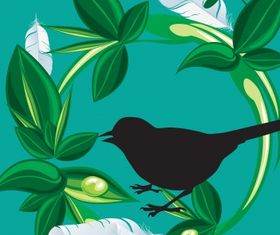 Nature bird vectors material