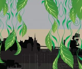 City nature creative vector