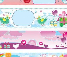 valentine Banner vectors material