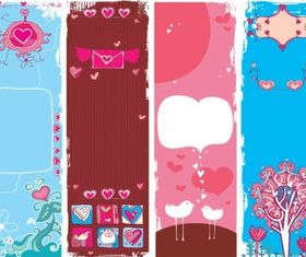 Cute valentine background vector