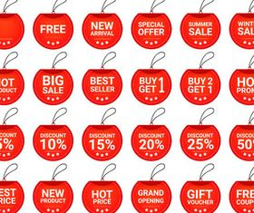 Sale Red Elements vector