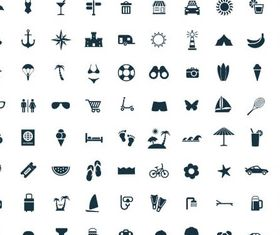 Travel Icons 2 set vector