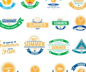 Summer Labels graphic 3 vector material
