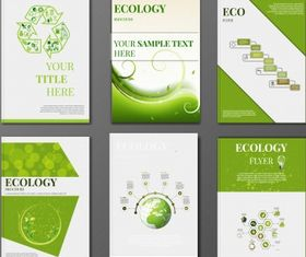Eco corporate identity Free vector