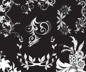 Floral elements 10 vector