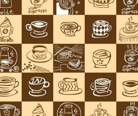 coffee theme shiny vector