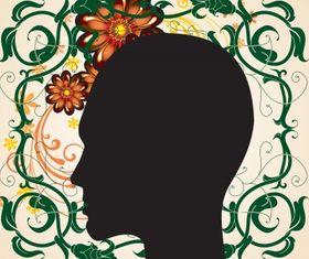 Floral head Illustration vector