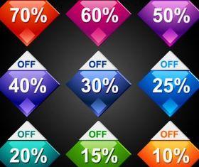 Behind discount label 01 vector