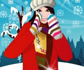 winter women Vector 5 vector