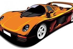 Fine sports car 02 vectors
