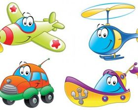 Cartoon transport 01 vector