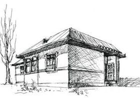 House sketch 1 vector
