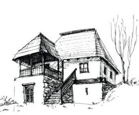House sketch 3 vector