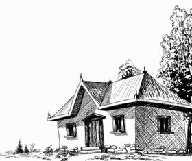 House sketch 4 vector