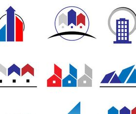 Real Estate Logo Set 12 design vectors