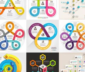 Option Infographics Elements 9 vector