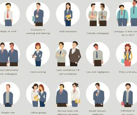 Infographics with People 8 vector graphics