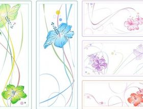 watercolor style flowers vector