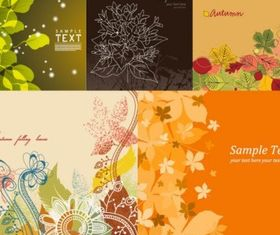 Lovely flowers background vectors