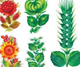 Special handpainted flowers vector