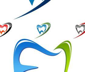 Dental Logotypes Set 2 vector