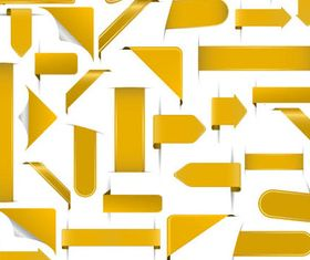 Yellow Ribbons graphic vector