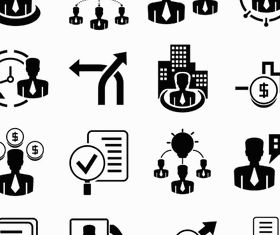 Black Business People Icons 5 vector