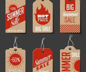 Sale Retro Stickers set vector