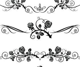 Ornamental Floral Dividers 6 vector design