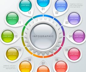 Infographics Backgrounds 58 vector graphics