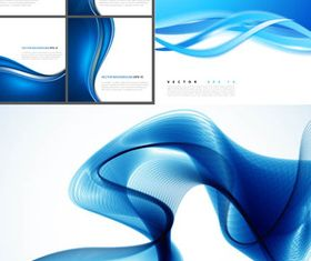 Waves Blue Backgrounds 2 vector