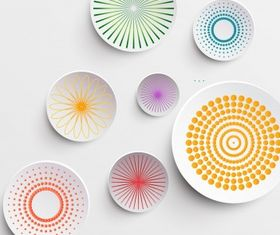 Abstract circle decor Free design vectors