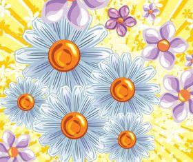 Floral background 36 vectors