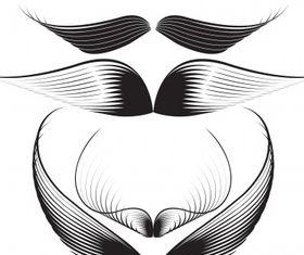 Wings set Illustration vector