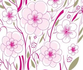flowers background illustration 01 vector