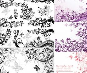 Fashion pattern vector set