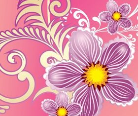 Floral background 28 vector