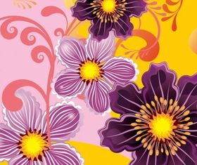 Floral background 29 vector