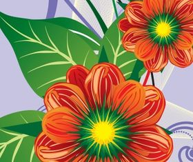 Floral background 30 vector graphics