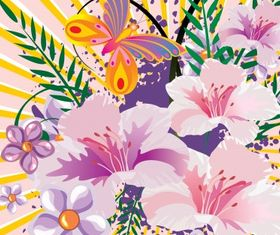 Floral background 31 vector graphics
