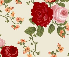 Colorful flowers background 01 vector graphics
